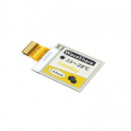 E-Ink raw display 152x152, 1.54inch e-Paper panel, yellow/black/white three-color (WS-14266)
