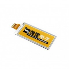 E-Ink raw display 296x128, e-Paper 2.9inch panel, yellow/black/white three-color (WS-14187)