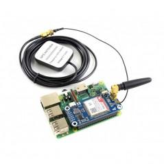 NB-IoT / eMTC / EDGE / GPRS / GNSS HAT for Raspberry Pi (WS-14865)   SIM7000E NB-IoT HAT