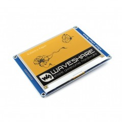E-Ink display 400x300, 4.2inch module, yellow/black/white three-color (WS-14228) 4.2inch e-Paper