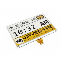 E-Ink raw display 640x384, 7.5inch , yellow/black/white three-color (WS-14144) 7.5inch e-Paper