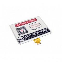 E-Ink raw display 600x448, 5.83inch, red/black/white three-color (WS-14411)  5.83inch e-Paper