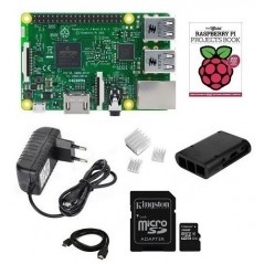 RASPBERRY PI 3 STARTER KIT2 -16GB NOOBS SD card,Case,HDMI Cable, 3xchladice,zdroj 5V/2A