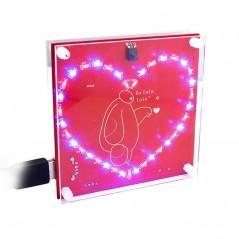 Music Remote Control Dazzling Heart Flow Lamp ProgrammableDIY Kit (ER-KTP13012L) STC15F2K61S2