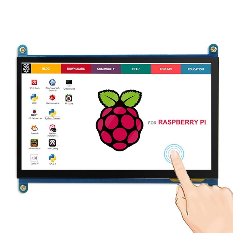 7inch Display 1024x600 HDMI LCD  with Touch Screen (ER-ESP01215E) for Raspberry Pi,Banana Pi, BB Black