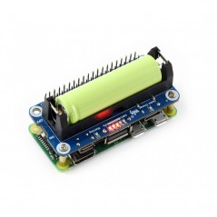 Li-ion Battery HAT for Raspberry Pi, 5V Output, Quick Charge (WS-15141)