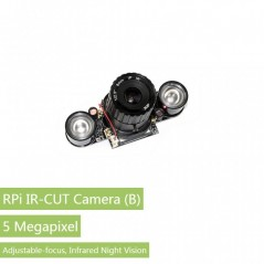 RPi IR-CUT Camera (B), Better Image in Both Day and Night (WS-15203) Raspberry Pi Camera Module+ Night Vision