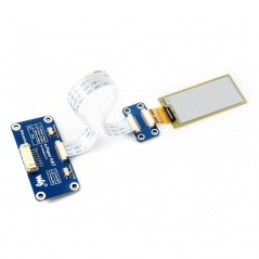 212x104, 2.13inch flexible E-Ink display HAT for Raspberry Pi (WS-15084)