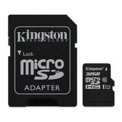 KINGSTON Canvas SELECT Micro SDHC 32GB Class10 UHS-I s adaptérom SDCS/32GB