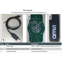 AS7265X DEMO KIT V3.0 (ams) Multispectral Chipset Evaluation Kit - Smart Spectral Sensor