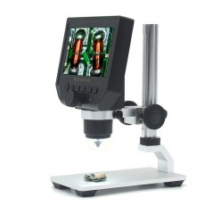 Digital Portable Microscope 1-600x 3.6MP 4.3inch HD OLED Display, Aluminum Alloy Stand