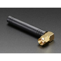 Right-angle Mini GSM/Cellular Quad-Band Antenna - 2dBi SMA Plug (AF-1858)
