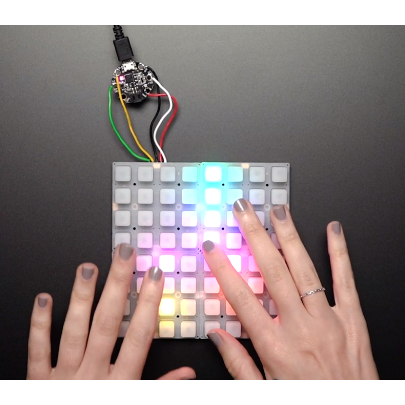 Adafruit NeoTrellis RGB Driver PCB for 4x4 Keypad (AF-3954)