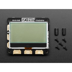 Pimoroni GFX HAT - 128x64 LCD Display - RGB Backlight and 6 Touch Button (AF-3935)