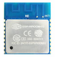 ESP-WROOM-02 (32MBIT) WiFi, FTP, HTTP, IEEE 802.11b/g/n, IPv4,TCP, UDP, SMD