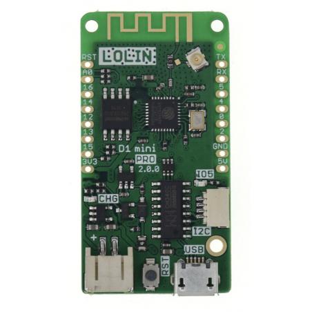 LOLIN D1 mini Pro V2 0 0 (WEMOS) WIFI SP8266 16MB ext ant MicroPython  Nodemcu Arduino