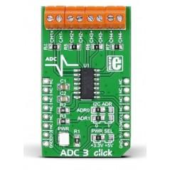 ADC3 click (MIKROE-1894) Microchip's MCP3428 16-bit multichannel analog-to-digital converter