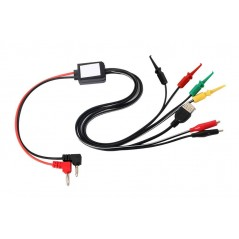 Power Supply Test Lead Cable Kit 2 Alligator Clips 2 Banana Plugs 4 Hook Clips (ER-CTH04925C)