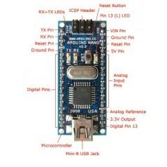 A000005 Arduino Nano v3.1 ATmega328 Gravitech.us (191227)