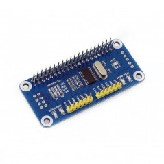 Serial Expansion HAT for Raspberry Pi, I2C Interface, 2-ch UART, 8 GPIOs (WS-15667)