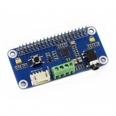 WM8960 Hi-Fi Sound Card HAT for Raspberry Pi, Stereo CODEC, Play/Record (WS-15668)