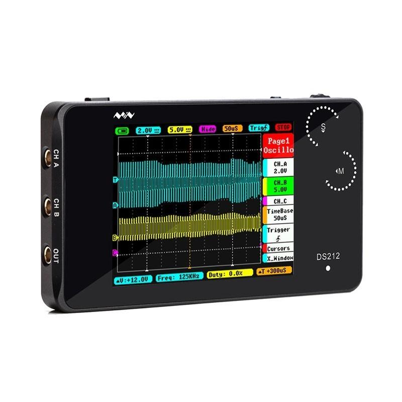 DS212- Portable 2-CH Open Source Oscilloscope (ER-DTD27016O)