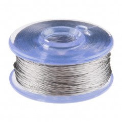 Conductive Thread Bobbin - 12m Smooth, Stainless Steel (DEV-13814)