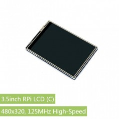 3.5inch RPi LCD (C), 480x320, 125MHz High-Speed SPI (WS-15811)