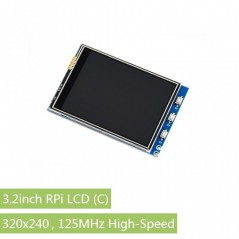 3.2inch RPi LCD (C), 320x240, 125MHz High-Speed SPI (WS-16088)
