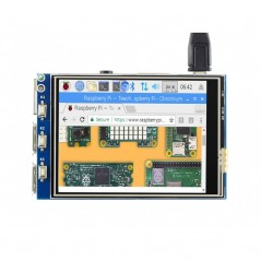 3 2inch RPi LCD (C), 320x240, 125MHz High-Speed SPI (WS-16088)