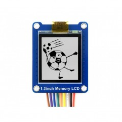 144x168, 1.3inch Bicolor LCD with Embedded Memory, Low Power (WS-15883)