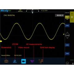 STO1102C (Micsig) 2x100MHz, 1GSa/S, 28Mpts, 130000wfm/s, bus decode