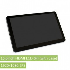 15.6inch HDMI LCD (H) (with case), 1920x1080, IPS (WS-16418)