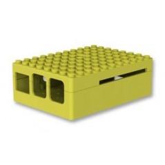 CBPIBLOX-YEL LEGO® Pi Blox, Raspberry Pi Model B+,2&3 B/B+, ABS, Yellow