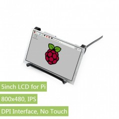 5inch IPS Display for Raspberry Pi, DPI interface, no Touch, 800x480 (WS-16381)