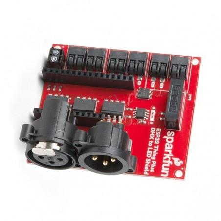 SparkFun ESP32 Thing Plus DMX to LED Shield (SF-DEV-15110)