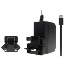 T7725DV  Raspberry Pi 4 B - Power Supply USB-C 5.1V/3A UK/EU Black Adapter