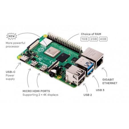 RASPBERRY PI 4 MODEL B 2GB , USB3.0, 2×HDMI 4Kp60,2.4/5.0GHz 802.11b/g/n/ac BLE5.0