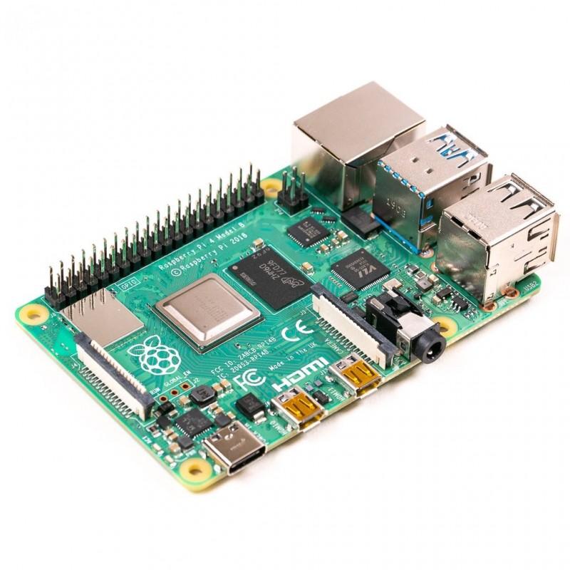 RASPBERRY PI 4 MODEL B 4GB , USB3.0, 2×HDMI 4Kp60,2.4/5.0GHz 802.11b/g/n/ac BLE5.0