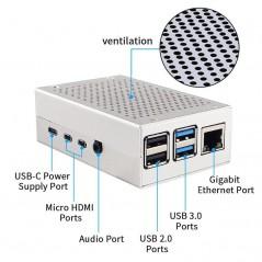 Aluminum Alloy Shell/Box for Raspberry Pi 4  (ER-RPC14808R)