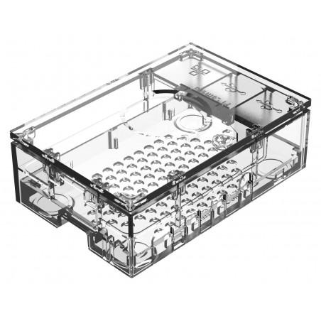 Raspberry Pi 4 Model B Case, Plastic, Clear (ASM-1900136-01)