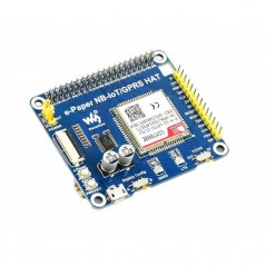e-Paper IoT Driver HAT for Raspberry Pi, Supports NB-IoT/eMTC/GPRS (WS-17211)
