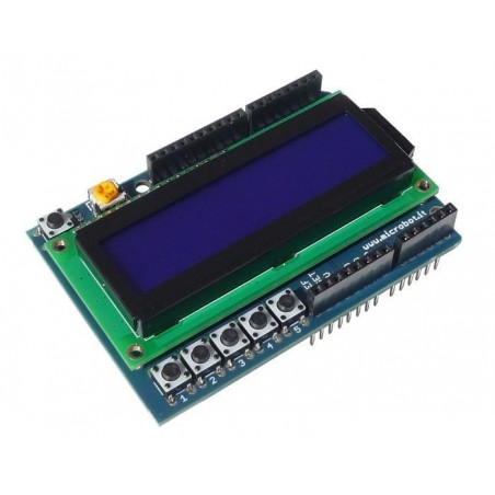 LCD Shield for Arduino 16x2 Blue LED Backlight (MR007-005 1)