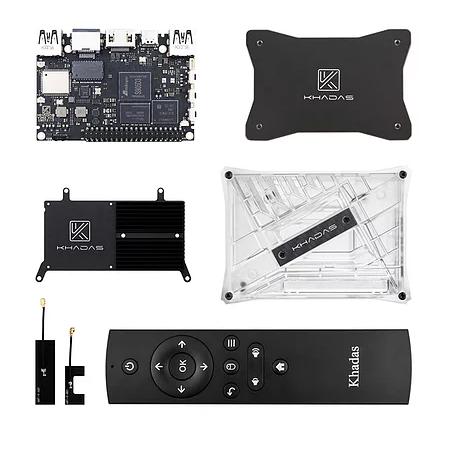 VIM3L HTPC Kit (Khadas) VIM3L+USB-C Adapter S905D3, 2/16GB, Case, Plate, IR Remote