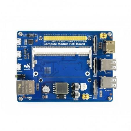 Compute Module IO Board with PoE Feature, for Raspberry Pi CM3 / CM3L / CM3+ / CM3+L (WS-16664)