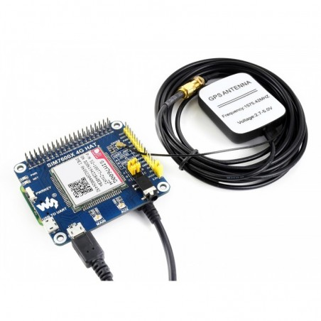 4G / 3G / 2G / GSM / GPRS / GNSS HAT for Raspberry Pi, LTE CAT4, the Global Version (WS-17372)