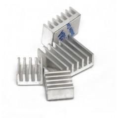 Heat Sink Kit for Raspberry Pi 4B - Silver Aluminum (SE-110991327)