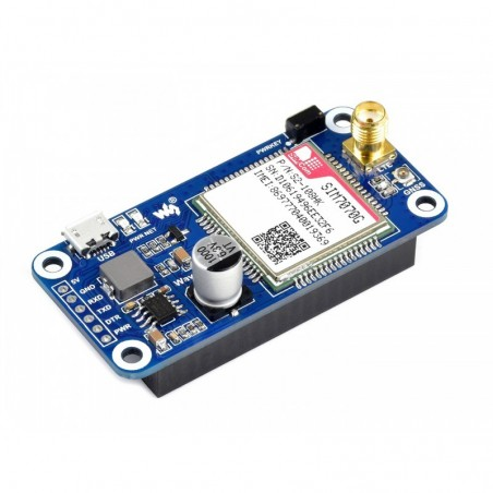 SIM7070G NB-IoT / Cat-M / GPRS / GNSS HAT for Raspberry Pi, global band support (WS-18078)