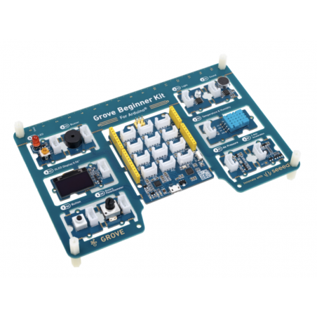 Grove Beginner Kit for Arduino - All-in-one Arduino Compatible Board with 10 Sensors and 12 Projects (SE-110061162)