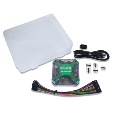Analog Discovery 2 -100MS/s USB Oscilloscope, Logic Analyzer and Variable Power Supply  (DIGILENT)